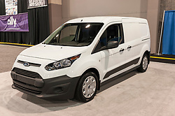 CHARLOTTE, NC, USA - November 11, 2015: Ford Transit connect on display during the 2015 Charlotte International Auto Show at the Charlotte Convention Center in downtown Charlotte.