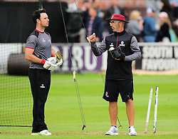 Jim Allenby and Matthew Maynard talk to each other.  - Mandatory by-line: Alex Davidson/JMP - 15/07/2016 - CRICKET - Cooper Associates County Ground - Taunton, United Kingdom - Somerset v Middlesex - NatWest T20 Blast