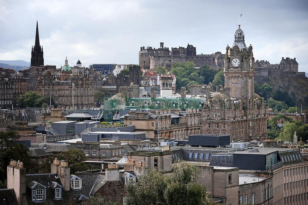 General view of Princes Street in Edinburgh city centre Scotland.