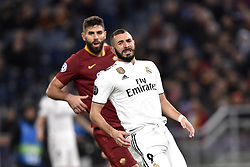 November 27, 2018 - Rome, Rome, Italy - Karim Benzema of Real Madrid looks dejected during the UEFA Champions League match between Roma and Real Madrid at Stadio Olimpico, Rome, Italy on 27 November 2018. (Credit Image: © Giuseppe Maffia/Pacific Press via ZUMA Wire)