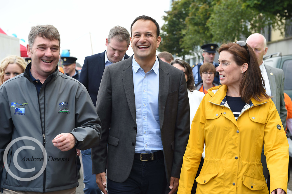 01/07/2017 REPRO FREE:  Dr. Peter Heffernan CEO Marine Institute with AN Taoiseach Leo Varadkar TD and Hildegarde Naughton TD  at Seafest 2017, the National Maritime Festival which runs from Friday 30June to Sunday 2July in Galway.<br /> . Photo:Andrew Downes, xposure .