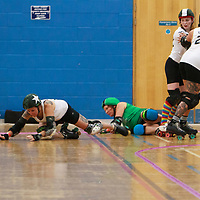 Hulls Angels Roller Derby take on Wiltshire Roller Derby in the Quarter Finals of the Tier 2 WFTDA British Champs 2019 Playoffs at Fenton Manor Sports Complex, Stoke-on-Trent, 2019-09-21
