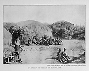 A ' KRAAL' OR VILLAGE IN BASUTOLAND From the Book '  Britain across the seas : Africa : a history and description of the British Empire in Africa ' by Johnston, Harry Hamilton, Sir, 1858-1927 Published in 1910 in London by National Society's Depository