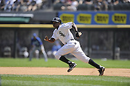 CHICAGO - AUGUST 14:  Juan Pierre #1 of the Chicago White Sox runs the bases against the Kansas City Royals on August 14, 2011 at U.S. Cellular Field in Chicago, Illinois.  The White Sox defeated the Royals 6-2.  (Photo by Ron Vesely)   Subject: Juan Pierre