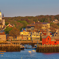 Massachusetts photo of the famous red fishing shack Motif Number One in Rockport, MA on Cape Ann at sunset. The historic landmark is known throughout New England as Motif Number One because it is the most often painted building in America.<br /> Massachusetts artwork of Rockport Harbor and Motif #1 is available as museum quality photography prints, canvas prints, acrylic prints, wood prints or metal prints. Prints may be framed and matted to the individual liking and decorating needs: <br /> <br /> https://juergen-roth.pixels.com/featured/motif-number-one-juergen-roth.html<br /> <br /> Good light and happy photo making!<br /> <br /> My best,<br /> <br /> Juergen