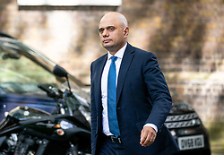 © Licensed to London News Pictures. 08/05/2019. London, UK. Home Secretary Sajid Javid arrives in Downing Street. Photo credit : Tom Nicholson/LNP
