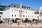 Johannesplatz Lienz, Tyrol, Austria. in the main pedestrian and shopping street