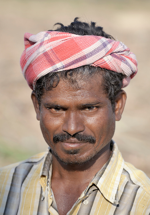 A sugar cane worker in Nallur, a small village in the state of Tamil Nadu in southern India.