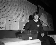 03/01/1975.01/03/1975.3rd January 1975.The Aer Lingus Young Scientist Exhibition at the RDS, Dublin...Picture shows David O'Reilly of CBS, McCurtain street, Cork, who made a study of the animal life inhabiting a stretch of a river in Cork, in relation to the conditions they are living under.
