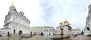 Moskou is de hoofdstad en met afstand de grootste stad van Rusland, voorheen van de Sovjet-Unie./// Moscow is the capital and by far the largest city of Russia, formerly the Soviet Union.<br /> <br /> Op de foto / On the photo:  Kremlin met Oespenski-kathedraal / Kremlin with Cathedral of the Assumption