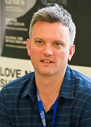 Pictured:  Mark O'Donnell author of To Be A Machine<br /> Book fanatics headed to Charlotte Square in Edinburgh which is the hub of the international Book Festival to meet the authors and also to meet up with fellow fans of the printed word.<br /> <br /> <br /> Ger Harley | EEm 16 August 2017