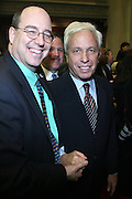 Chuck Lesnick, City Coucil President, City of Yonkers and Mark Green at the Swearing-in of the Honorable David A. Patterson at the 55th Governor of New York  at The New York State Capitol in the Assembly Chambers on March 17, 2008