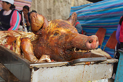 Cooked Pigs Head, Otovalo Market