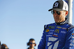 March 2, 2018 - Las Vegas, Nevada, United States of America - March 02, 2018 - Las Vegas, Nevada, USA: Jamie McMurray (1) hangs out on pit road before qualifying for the Pennzoil 400 at Las Vegas Motor Speedway in Las Vegas, Nevada. (Credit Image: © Chris Owens Asp Inc/ASP via ZUMA Wire)