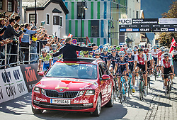 Start during the Men Under 23 Road Race 179.9km Race from Kufstein to Innsbruck 582m at the 91st UCI Road World Championships 2018 / RR / RWC / on September 28, 2018 in Innsbruck, Austria.  Photo by Vid Ponikvar / Sportida