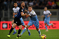 Marcelo Brozovic of Internazionale and Ciro Immobile of Lazio compete for the ball during the Serie A 2018/2019 football match between SS Lazio and FC Internazionale at stadio Olimpico, Roma, October, 29, 2018 <br />  Foto Andrea Staccioli / Insidefoto