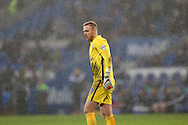 Jason Steele, the Blackburn Rovers goalkeeper looks on.Skybet football league championship match, Cardiff city v Blackburn Rovers at the Cardiff city stadium in Cardiff, South Wales on Saturday 2nd Jan 2016.<br /> pic by Andrew Orchard, Andrew Orchard sports photography.