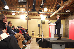May 7, 2017 - London, United Kingdom - Labour's Shadow Chancellor, John McDonnell gives speech on the British economy in the museum of London in London's Canary Wharf, on May 7, 2017. (Credit Image: © Jay Shaw Baker/NurPhoto via ZUMA Press)