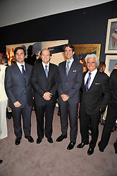 Left to right, EDUARDO SANCHEZ PEREZ, ?, CROWN PRINCE PAVLOS OF GREECE and ANTONIS LIBERIS at a party to celebrate the publication of Elena Makri Liberis's book 'Every Month, Same day' held at Sotheby's, 34-35 New Bond Street, London on 5th May 2009.