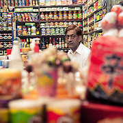 A shopkeeper at INA market, New Delhi