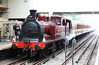 Metropolitan No.1 steam locomotive, Steam on the Underground – District 150, District Line 150th Anniversary, Ealing Broadway Tube Station, London, UK, 23 June 2019, Photo by Richard Goldschmidt