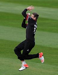 Somerset's Jamie Overton - Photo mandatory by-line: Harry Trump/JMP - Mobile: 07966 386802 - 30/03/15 - SPORT - CRICKET - Pre Season Fixture - T20 - Somerset v Gloucestershire - The County Ground, Somerset, England.