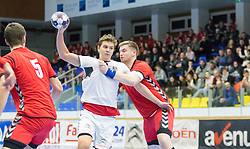 07.01.2017, BSFZ Suedstadt, Maria Enzersdorf, AUT, IHF Junior WM 2017 Qualifikation, Österreich vs Tschechische Republik, im Bild Sebastian Spendier (AUT) // during the IHF Men's Junior World Championships qualifying match between Austria and Czech Republic at the BSFZ Suedstadt, Maria Enzersdorf, Austria on 2017/01/07, EXPA Pictures © 2017, PhotoCredit: EXPA/ Sebastian Pucher