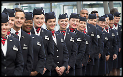 May 23, 2019 - London, London, United Kingdom - Image licensed to i-Images Picture Agency. 23/05/2019. London, United Kingdom. BA staff wait for The Queen arriving for a visit to the headquarters of British Airways, Heathrow, United Kingdom, to mark their centenary year. (Credit Image: © Stephen Lock/i-Images via ZUMA Press)
