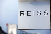 Sign for clothes shop Reiss.