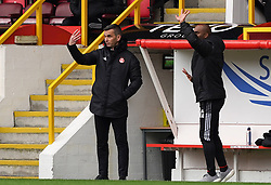 Aberdeen manager Stephen Glass on the touchline during the cinch Premiership match at Pittodrie Stadium, Aberdeen. Picture date: Sunday October 3, 2021.