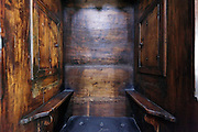 priest seat in a confessional