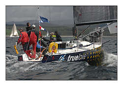 Sailing - The 2007 Bell Lawrie Scottish Series hosted by the Clyde Cruising Club, Tarbert, Loch Fyne..Brilliant first days conditions for racing across the three fleets...GBR4992  True Love Hamish Mackay IRC class 3