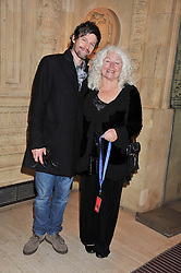 JASON ORANGE and his mother JENNY at Cirque du Soleil's VIP night of Kooza held at the Royal Albert Hall, London on 8th January 2013.