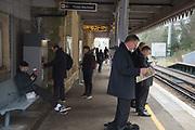 Commuters, Battle station. East Sussex. 14 March 2017