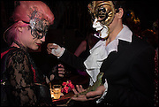 MARIA GANTIMER; PATRICK NAGEL, , The Dark Side of Love, Valentine's Masked Ball. the Coronet Theatre, Elephant and Castle. London. 13 February 2015.