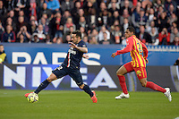 ACTION DE BUT DE Ezequiel LAVEZZI  - 07.03.2015 -   PSG / Lens -  28eme journee de Ligue 1 <br /> Photo : Andre Ferreira / Icon Sport