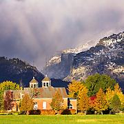 Fall colors at Tamany Castle near Hamilton, Montana.
