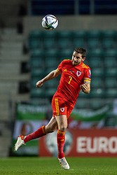 TALLINN, ESTONIA - Monday, October 11, 2021: Wales' Joe Allen during the FIFA World Cup Qatar 2022 Qualifying Group E match between Estonia and Wales at the A. Le Coq Arena. Wales won 1-0. (Pic by David Rawcliffe/Propaganda)