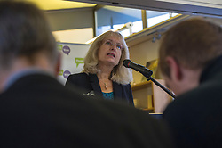 Pictured: Dr Kirsty Hughes<br /> Scottish launch of the campaign for people across the UK to have the final say on Brexit in a 'People's Vote'. Moderated by the incoming chair of the Chair of the European Movement in Scotland, Mark Lazaowicz, speakers included Dr Kirsty Hughes, director of the Scottish Centre on European Relations; Georgie Harris, Vice President Community of the University of Edinburgh Studenst Association and John Edward, former head of the European Parliament Office in Scotland. <br /> <br /> Ger Harley | EEm Date