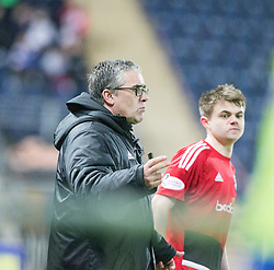 yr United's manager Ian McCall and sub Ayr United's Alan Forest. Falkirk 1 v 1 Ayr United, Scottish Championship game played 14/1/2017at The Falkirk Stadium .