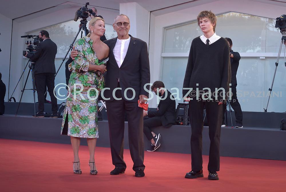 VENICE, ITALY - SEPTEMBER 12:Julia Vysotskaya ,Andrej Koncalovskij  walk the red carpet ahead of closing ceremony at the 77th Venice Film Festival on September 12, 2020 in Venice, Italy.<br /> (Photo by Rocco Spaziani)