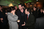JAMES PUREFOY AND TOM HOLLANDER, Tom Cairns directs Almeida Fundraising Benefit sponsored by Coutts and Co. -A Chain Play by Samuel Adamson, Moira Buffini, David Hare, Charlotte Jones, Frank McGuinness and Roy Williams. Almeida theatre. London. 23 March 2007.  -DO NOT ARCHIVE-© Copyright Photograph by Dafydd Jones. 248 Clapham Rd. London SW9 0PZ. Tel 0207 820 0771. www.dafjones.com.