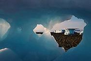 Icebergs melting on the beach, Qaanaaq, Greenland, Arctic