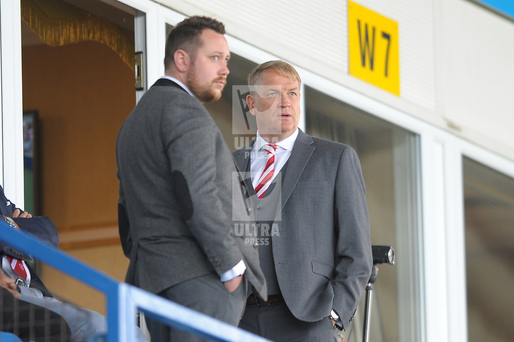 TELFORD COPYRIGHT MIKE SHERIDAN Kidderminster Harriers chairman Colin Gordon during the National League North fixture between AFC Telford United and Kidderminster Harriers on Tuesday, August 6, 2019.<br /> <br /> Picture credit: Mike Sheridan<br /> <br /> MS201920-006