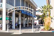 Lido Walk Signage at Via Lido Plaza on Newport Blvd