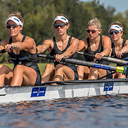 Jackie Gowler, Kirstyn Goodger, Beth Ross and Charlotte Spence New Zealand Womens Coxless Four<br /> <br /> Qualification heats at the World Championships, Sarasota, Florida, USA Monday 25 September 2017. Copyright photo © Steve McArthur / Rowing NZ