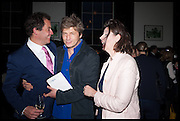 DOMINIC WEST; LEO JOHNSON, Launch of Rachel Kelly's memoir 'Black Rainbow' about recovering from depression with the help of poetry published by Hodder & Stoughton , ( Author proceeds will be given to the charities SANE and United Response ). Cafe of the National Gallery.  London. 7 May 2014