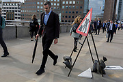 36 hours after the London Bridge and Borough Market terrorist attack, the capital returns to normality and Londoners return to their first day to work, on Monday 5th June 2017, in the south London borough of Southwark, England. Seven people were killed and many others left with life-changing injuries - but the British spirit of defiance and to carry on with every day life, endures.