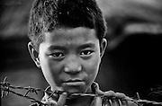 A Bhutanese boy in a refugee camp in Nepal.