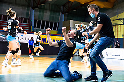Gregor Rozman, head coach of Calcit Volley celebrates victory during 3rd Leg Volleyball match between Calcit Volley and Nova KBM Maribor in Final of 1. DOL League 2020/21, on April 17, 2021 in Sportna dvorana, Kamnik, Slovenia. Photo by Matic Klansek Velej / Sportida